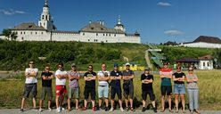 Das Team in Russland